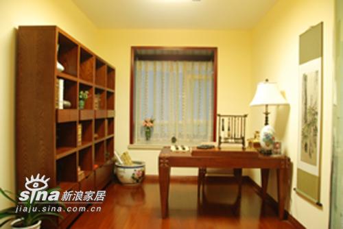 中式 三居 书房图片来自用户2757926655在湖景一号中式样板间46的分享