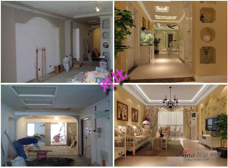 田园 三居 客厅图片来自用户2737946093在6.5万装108平欧式田园3居77的分享
