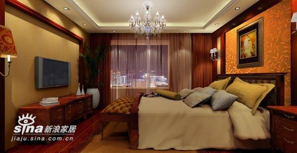 中式 三居 卧室图片来自wulijuan_16在新中式设计案例75的分享