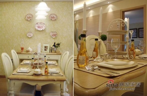欧式 三居 餐厅图片来自用户2557013183在实景8万美装140平欧式大气3居83的分享