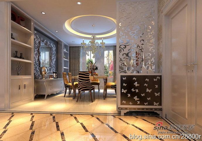 欧式 别墅 餐厅图片来自用户2772873991在200平演绎华丽透亮现代欧式20的分享