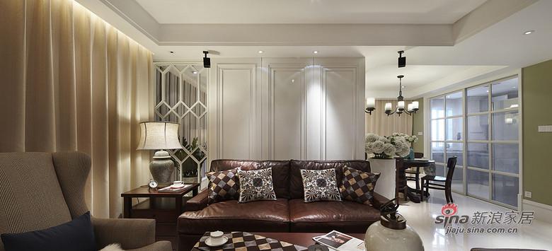 简约 三居 客厅图片来自装修微日记在【高清】9万装128平简约美式混搭居13的分享