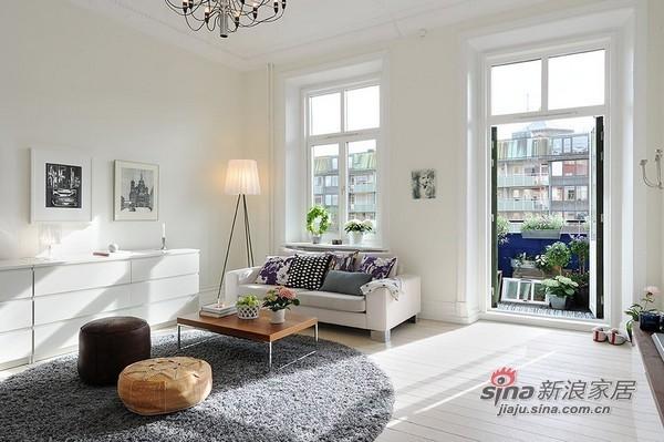 96平米北欧简约风格公寓设计
