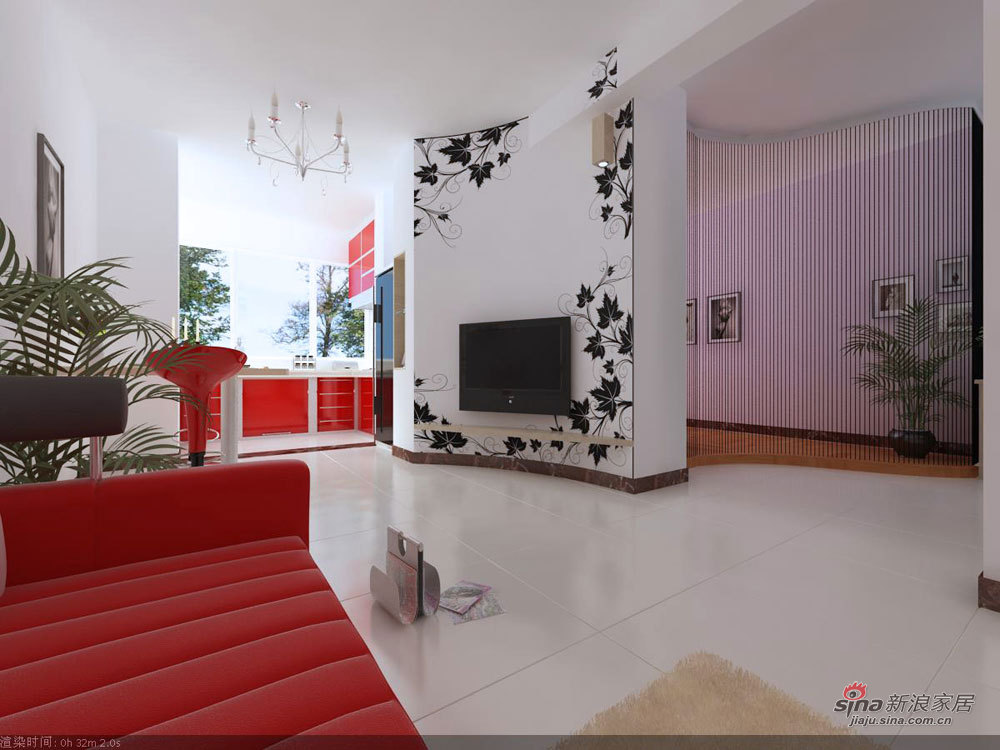 简约 一居 客厅图片来自用户2737950087在80后小夫妻3.8万打造55平曲线林苑雅居爱巢33的分享