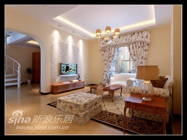 欧式 复式 客厅图片来自用户2746869241在10万装天通苑166平欧式田园风75的分享