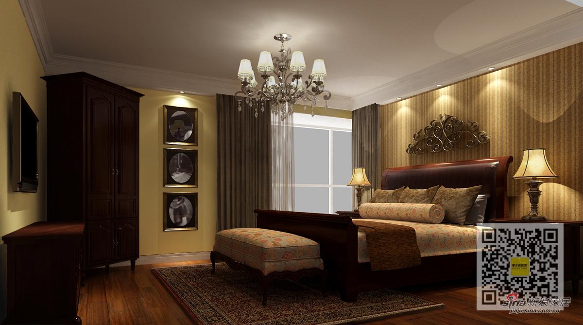 美式 三居 卧室图片来自用户1907686233在美式风格装修设计案例12的分享
