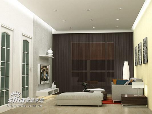 简约 一居 客厅图片来自用户2737782783在实创装饰案例75的分享
