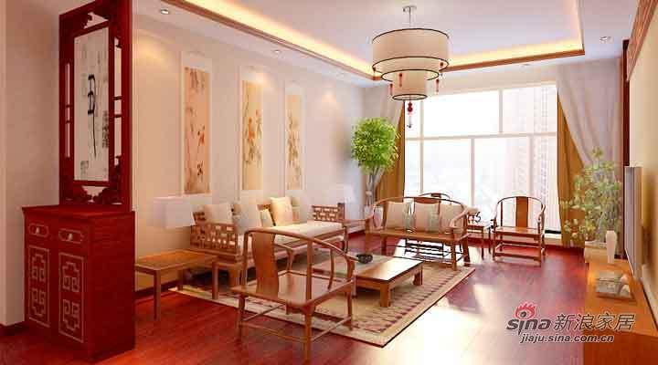 中式 二居 客厅图片来自用户1907659705在8万打造海富金棕榈121平新中式两居21的分享