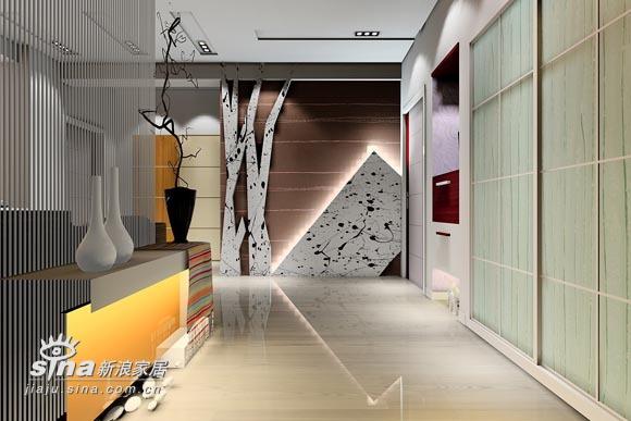 简约 三居 玄关图片来自用户2556216825在实创装饰绿城百合38的分享