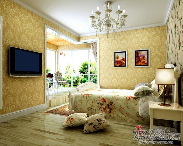 110平米高性价比3居爱家主卧室设计