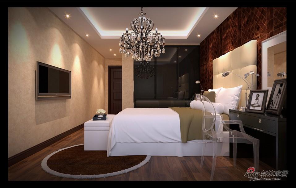 混搭 别墅 卧室图片来自用户1907691673在新中式混搭尊享极品豪宅41的分享
