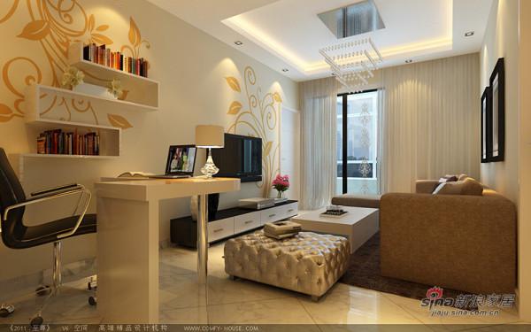 开放式书房与客厅