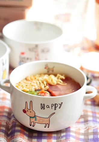 小清新可爱动物系列环保陶瓷碗