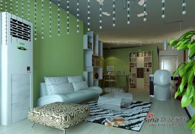 简约 一居 客厅图片来自用户2737759857在75平老房变身时尚功能两居15的分享