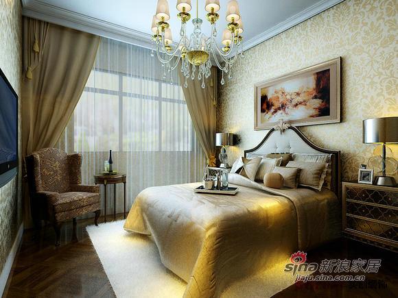 欧式 三居 卧室图片来自用户2757317061在毛坯呼叫转移欧式范儿 保利家园C1户型82的分享