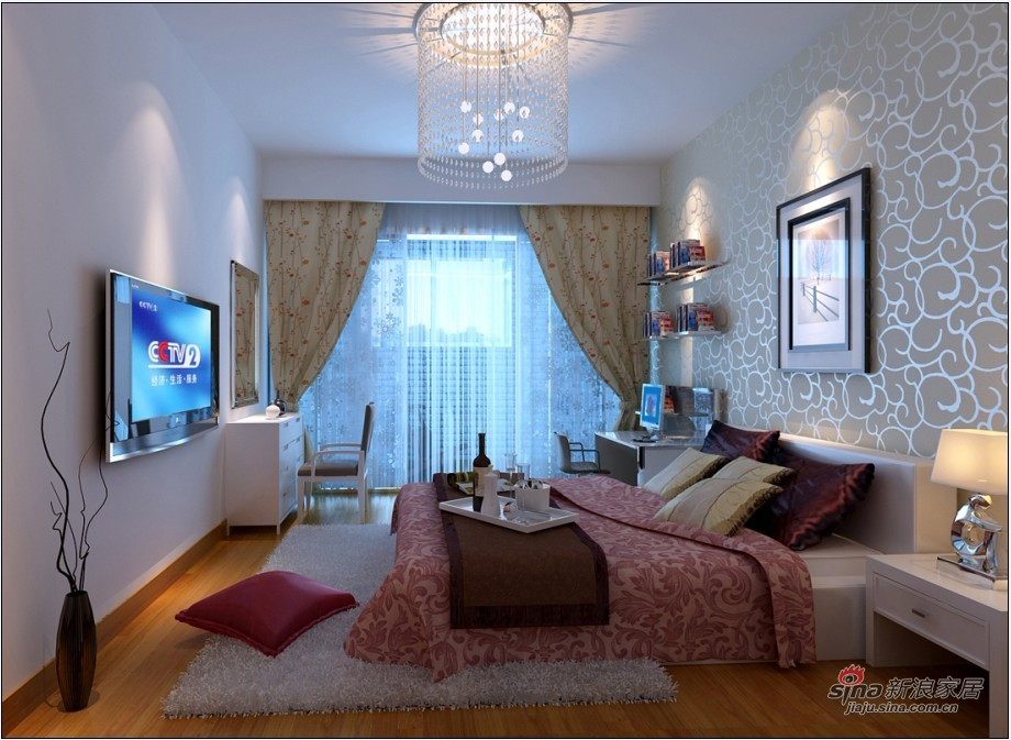 简约 二居 卧室图片来自用户2557010253在5.4万打造小资情调80平家52的分享