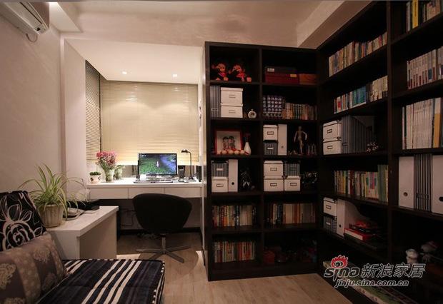 简约 三居 书房图片来自佰辰生活装饰在11万打造85平低调温馨时尚居21的分享