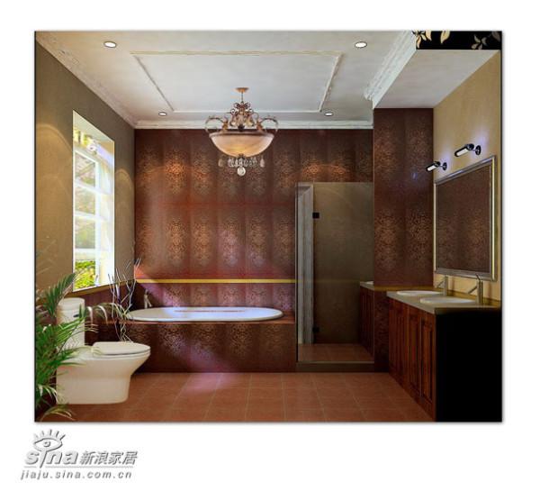使用了意大利IRIS品牌的墙砖,独特的纹理使得卫生间更有品味感。