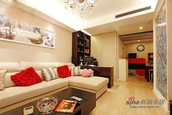 简约 二居 客厅图片来自用户2738093703在6万巧装现代简约时尚二居室27的分享