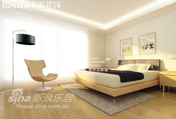 简约 别墅 卧室图片来自用户2558728947在公司总裁自建520平 极简中的奢华21的分享