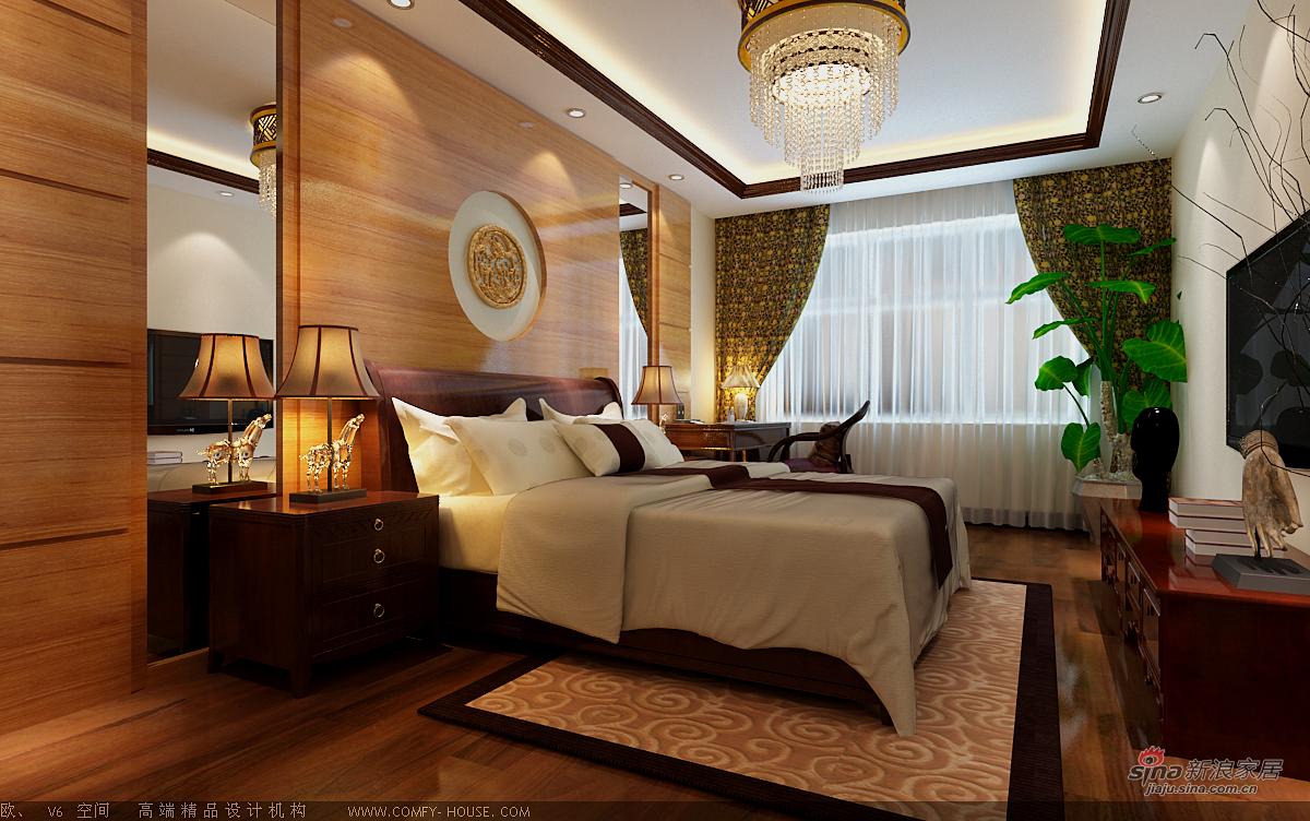 中式 别墅 卧室图片来自用户1907662981在新中式风格设计84的分享