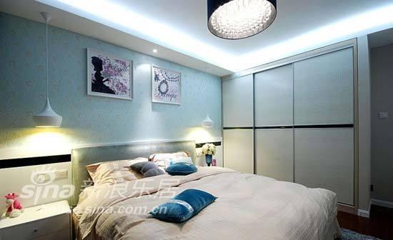 简约 三居 卧室图片来自用户2738093703在135平清新素雅格调简约家37的分享
