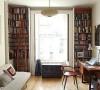 喜欢喜欢~可以放好多好多书的书架设计,会让整个书房的气质沉静下来