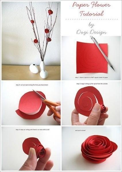 纸质玫瑰花
