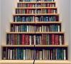 楼梯来装书,这个想法真不错!