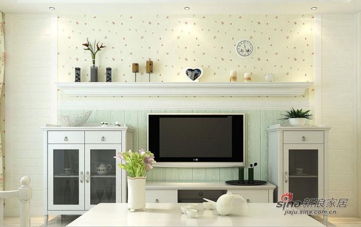 田园 一居 客厅图片来自用户2737946093在5.5万打造明光翡翠湾小户型田园风格21的分享
