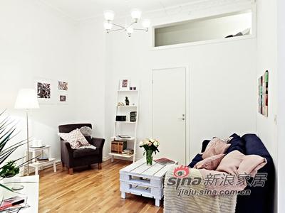 欧式 其他 客厅图片来自用户2746889121在50平清雅简约白色单身公寓46的分享