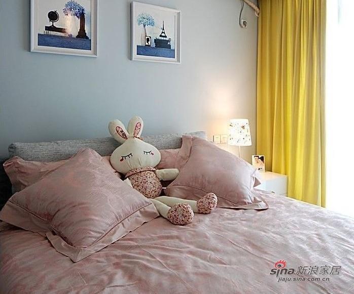 简约 二居 卧室图片来自用户2559456651在100平都市白领时尚华丽两居室98的分享
