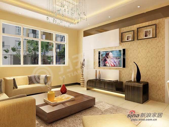 简约 三居 客厅图片来自阳光力天装饰在中国铁建国际城-89㎡38的分享