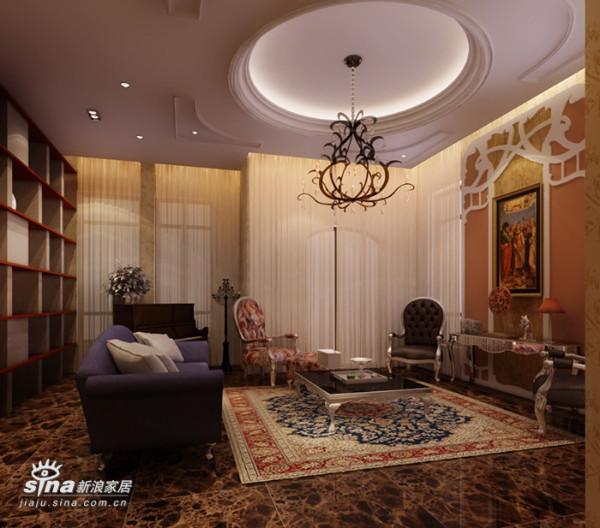 欧式 别墅 客厅图片来自用户2772856065在保利垄上33的分享