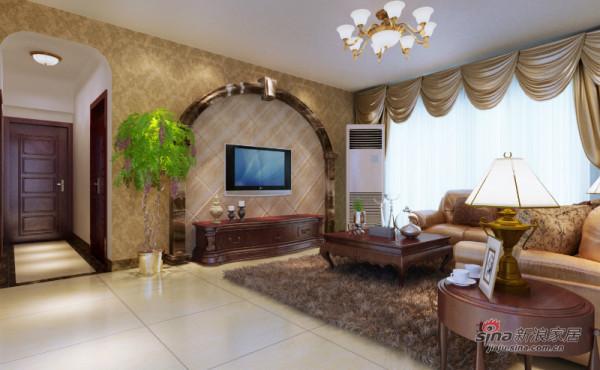 125平米四居室美式风格设计图,休闲舒适