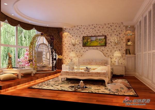 欧式 二居 卧室图片来自用户2772873991在5.3万打造时尚新婚夫妇的欧式风格新房76的分享