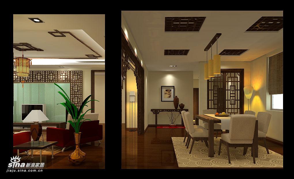 中式 四居 餐厅图片来自用户2757926655在沉稳大气 完全中国风34的分享