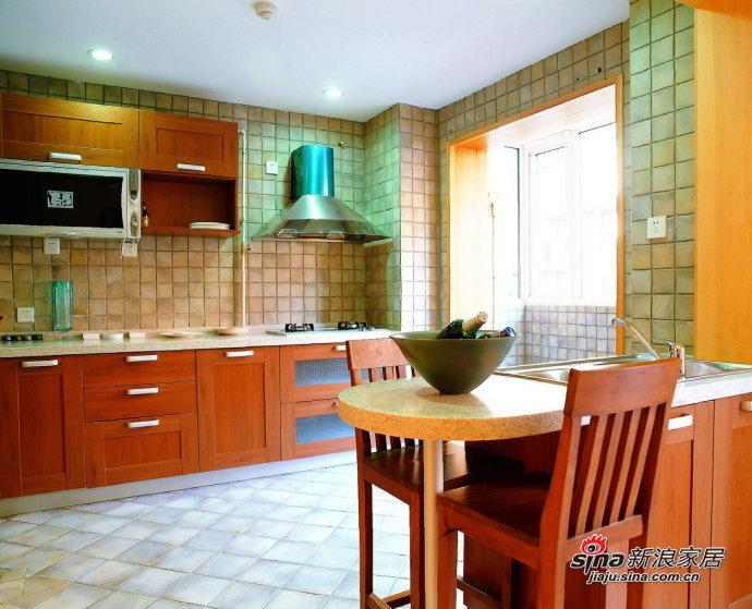 简约 三居 厨房图片来自用户2738813661在8万装135平橙色简约3居室65的分享
