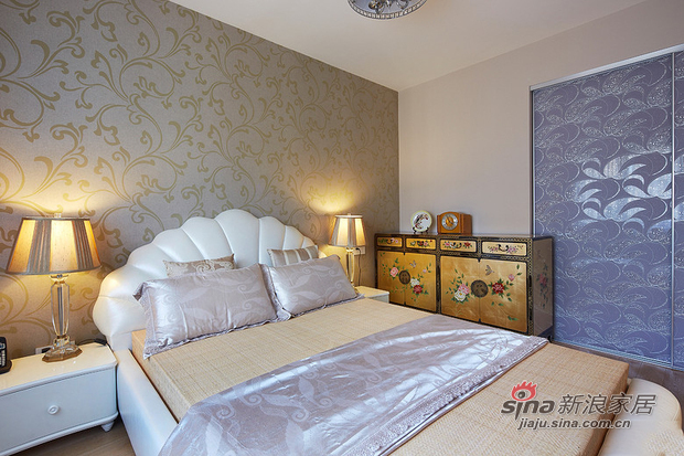 中式 三居 卧室图片来自佰辰生活装饰在9万打造150平新古典中式家60的分享