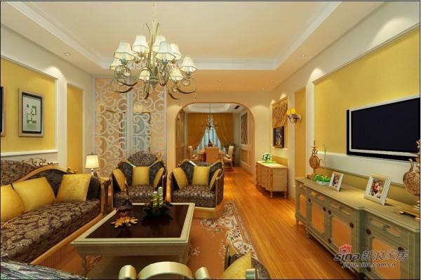 欧美风情客厅设计