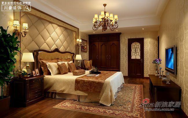 中式 三居 卧室图片来自用户1907659705在8万打造120平现代中式古典家40的分享