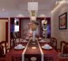 现代中式餐厅背景
