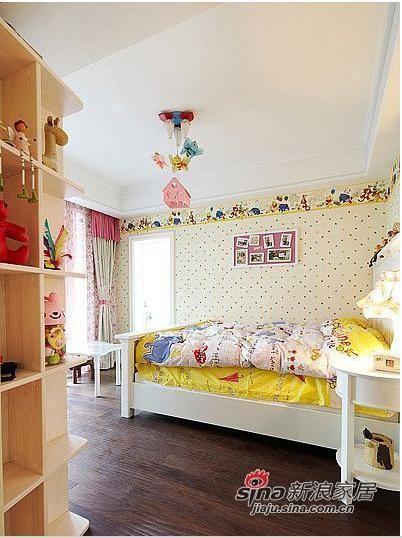 120平简约式休闲儿童房