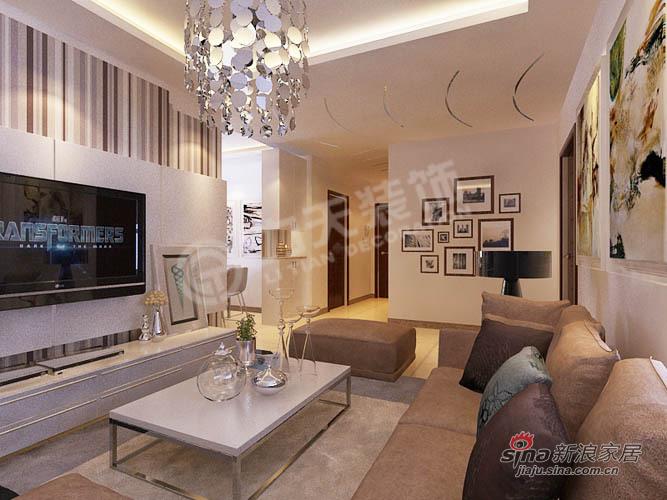 简约 二居 客厅图片来自阳光力天装饰在107平旷世新城简约75的分享