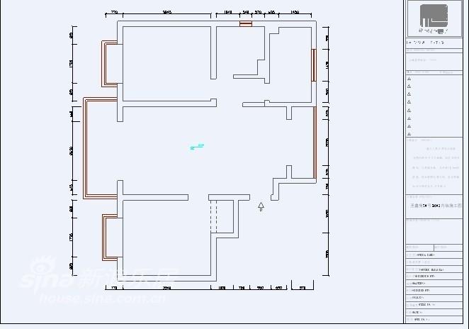 简约 二居 户型图图片来自用户2739378857在圣鑫苑 简约、低调、实用的设计10的分享