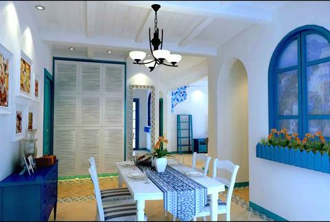 地中海 二居 餐厅图片来自用户2756243717在5.8万巧装地中海风格二居室85的分享