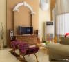 客厅的欧式拱形背景墙