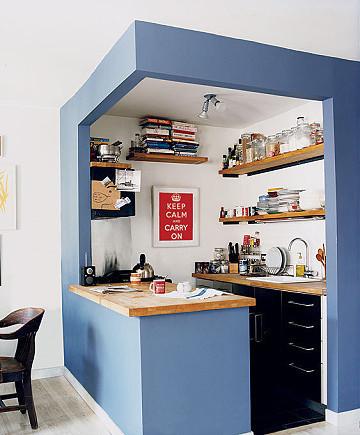 半开放式 厨房 紧凑