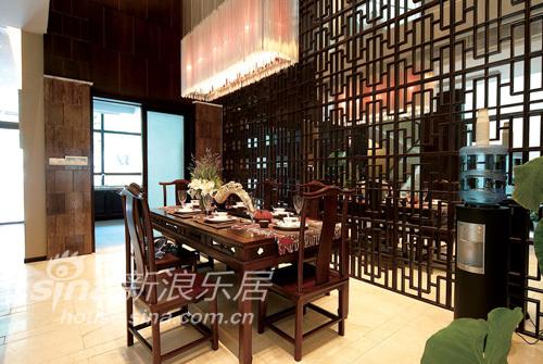 中式 别墅 餐厅图片来自wulijuan_16在春亭装潢 新中式滨海御庭T1型别墅67的分享