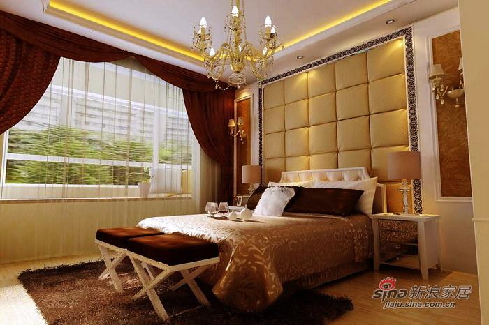 欧式 三居 卧室图片来自用户2746869241在9.7万打造上和园著150平豪华简欧三居室29的分享